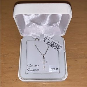 Jewelry - Petite diamond cross necklace